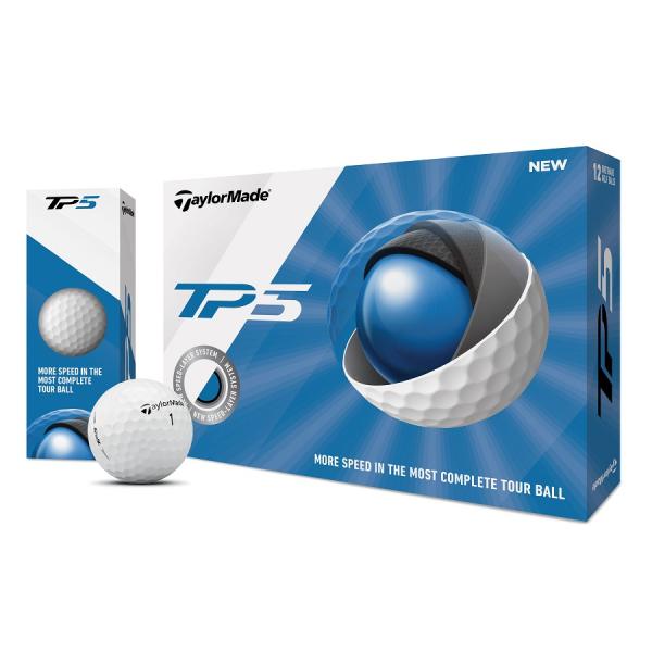 TaylorMade TP5 - Golfbälle weiß 12 Stück / 24 Stück oder 48 Stück