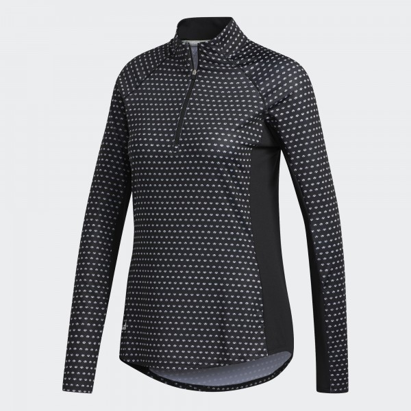 Adidas Layer Aeroready Printed Zip Langarmshirt Damen